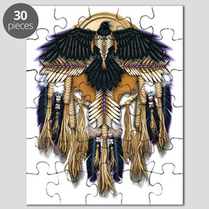 Native Crow Mandala Puzzle