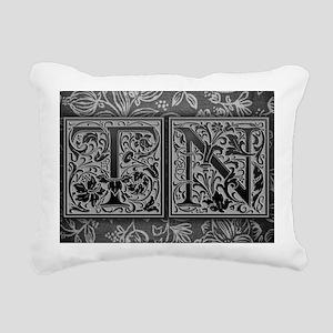 TN initials. Vintage, Fl Rectangular Canvas Pillow