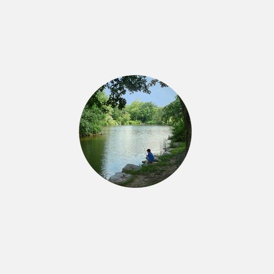 Dylan Fishing Mini Button