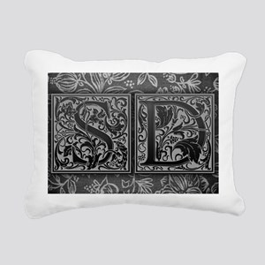 SD initials. Vintage, Fl Rectangular Canvas Pillow