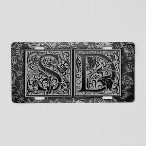 SD initials. Vintage, Flora Aluminum License Plate