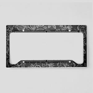 SD initials. Vintage, Floral License Plate Holder
