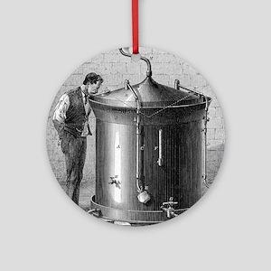 Brewery vat, 19th century Round Ornament