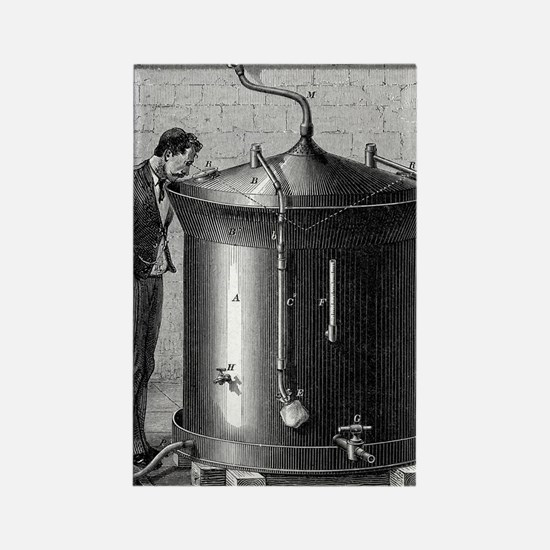 Brewery vat, 19th century Rectangle Magnet