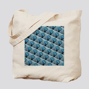 Ice Blue Floral Arrangement Tote Bag