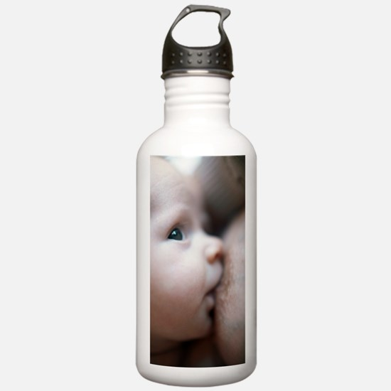 Breastfeeding baby boy Water Bottle