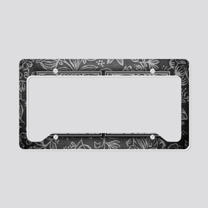 VQ initials. Vintage, Floral License Plate Holder