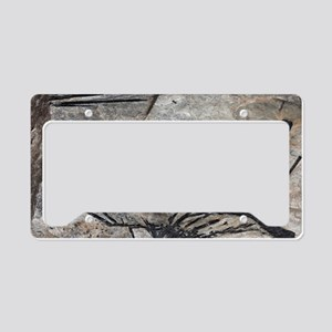 Black tourmaline in mica schi License Plate Holder
