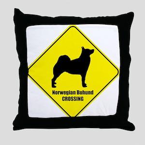 Buhund Crossing Throw Pillow