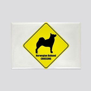 Buhund Crossing Rectangle Magnet