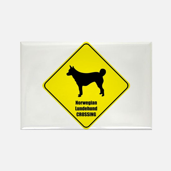Lundehund Crossing Rectangle Magnet (10 pack)