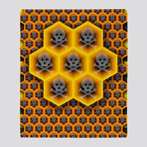 Bee colony collapse disorder, artwor Throw Blanket