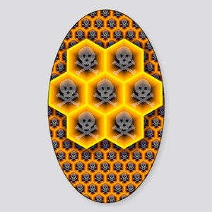 Bee colony collapse disorder, artwo Sticker (Oval)