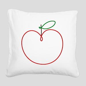 Juicy Apple Square Canvas Pillow