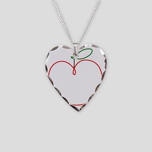 Juicy Apple Necklace Heart Charm