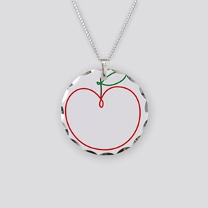 Juicy Apple Necklace Circle Charm