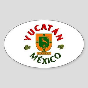 Yucatán Oval Sticker