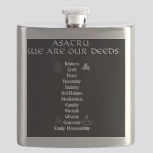 Asatru We Are Our Deeds Flask