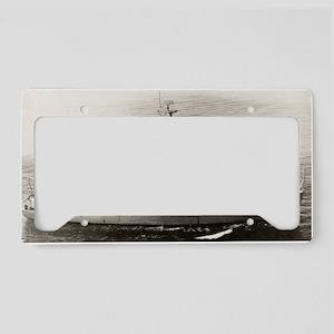 uss acme large framed print License Plate Holder