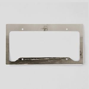 uss ability large framed prin License Plate Holder