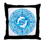 Celtic Dolphins Throw Pillow
