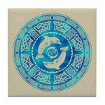 Celtic Dolphins Tile Coaster