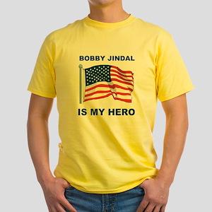 BOBBY JINDAL IS MY HERO Yellow T-Shirt