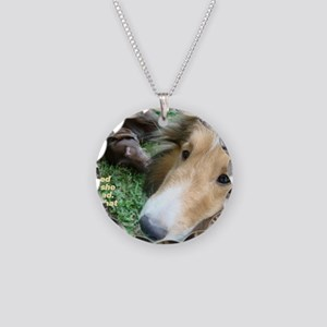 The Dark Side of Shelties Necklace Circle Charm