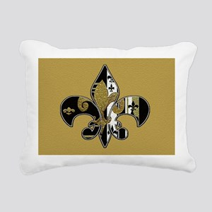 Fleur de lis bling Rectangular Canvas Pillow