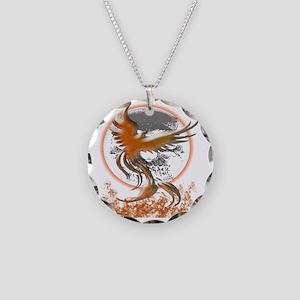 Phoenix Rising Necklace Circle Charm