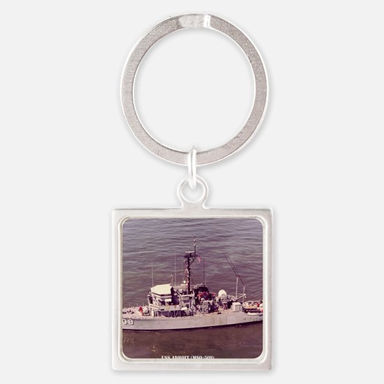 uss adroit framed panel print Square Keychain