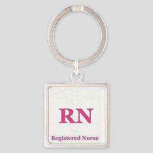 Registered Nurse Square Keychain