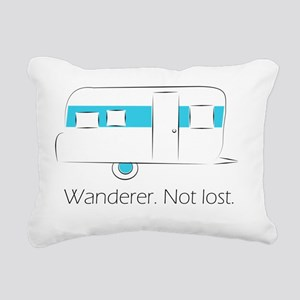 Wanderer. Not lost. Rectangular Canvas Pillow