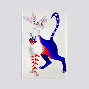 An All American Cat Rectangle Magnet