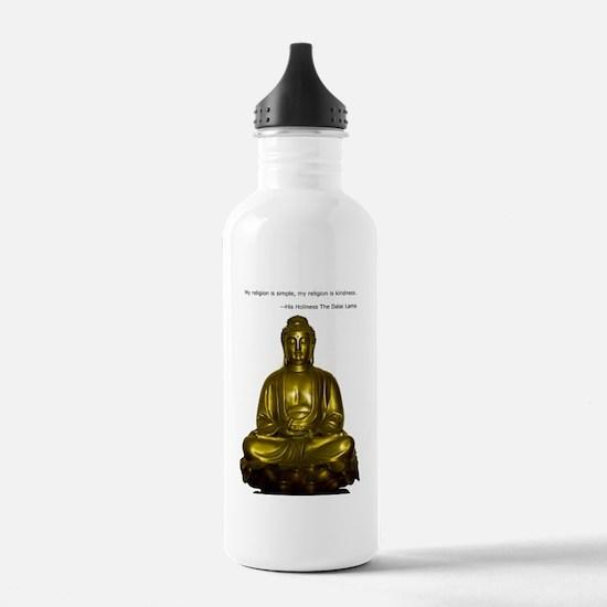 Buddha with Dalai Lama Water Bottle