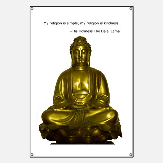 Buddha with Dalai Lama Quote Banner