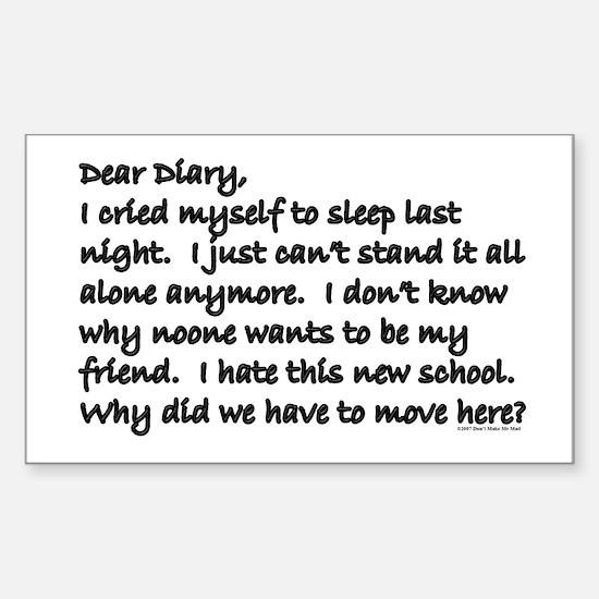 Dear Diary 8 Rectangle Decal