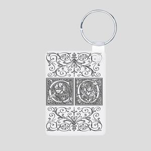 CO, initials, Aluminum Photo Keychain