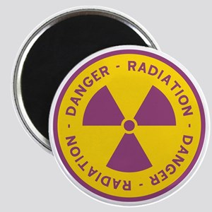 Radiation Warning Symbol Magnet