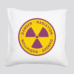 Radiation Warning Symbol Square Canvas Pillow