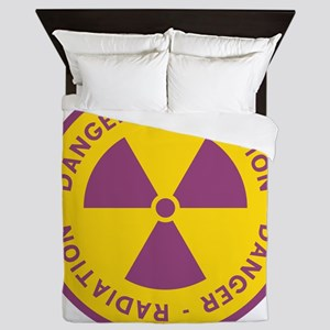 Radiation Warning Symbol Queen Duvet