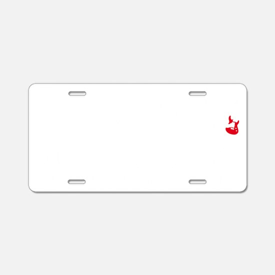 evolution e-guitar player Aluminum License Plate