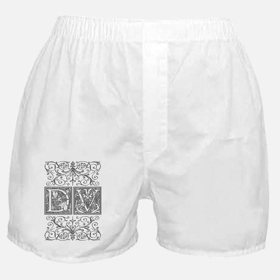 DV, initials, Boxer Shorts