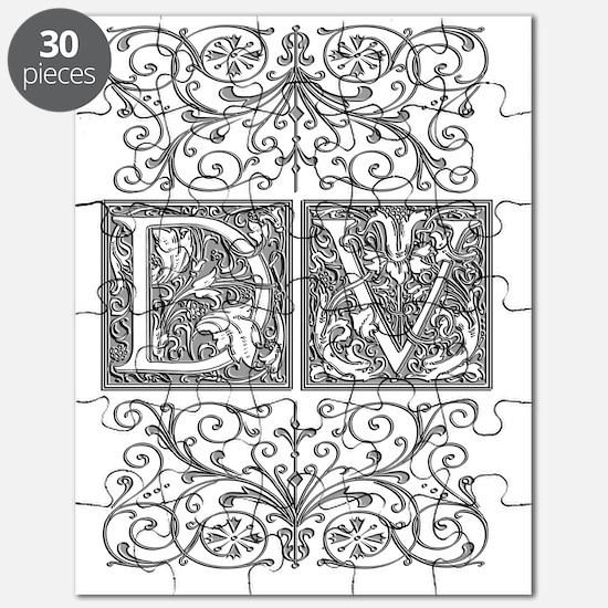 DV, initials, Puzzle
