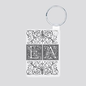 EA, initials, Aluminum Photo Keychain