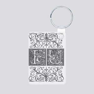 FU, initials, Aluminum Photo Keychain