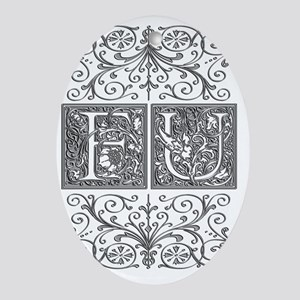 FU, initials, Oval Ornament