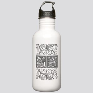 GA, initials, Stainless Water Bottle 1.0L