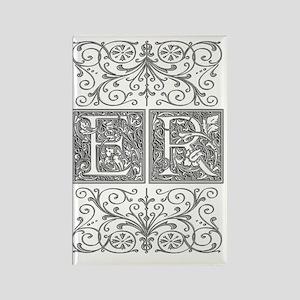 ER, initials, Rectangle Magnet