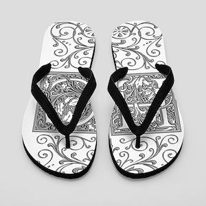 HC, initials, Flip Flops